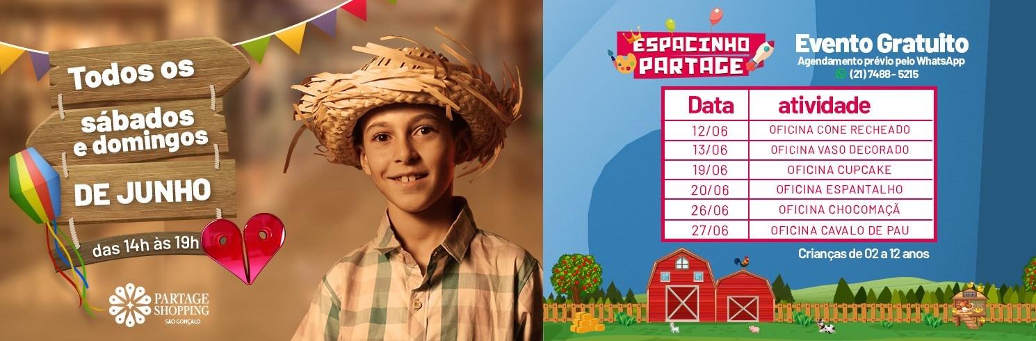 ESPACINHO PARTAGE  DE JUNHO