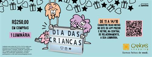 Promoção Dia das Crianças Canoas Shopping