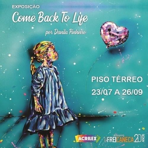 Shopping Frei Caneca abriga exposição da artista plástica Danila Pinheiro