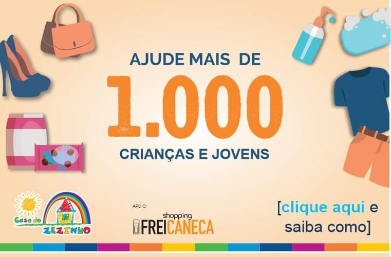 Shopping Frei Caneca e Casa do Zezinho promovem campanha para arrecadação de roupas e mantimentos
