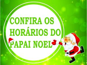 Horário do Papai Noel