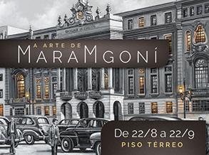Telas realistas de Maramgoní em exposição no Shopping Frei Caneca