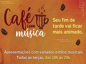 Café com música embala Shopping Frei Caneca todas as terças