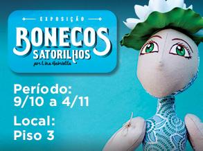 Bonecos Satorilhos ganham exposição no Shopping Frei Caneca