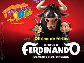 """Férias do Shopping Frei Caneca traz atração inspirada na animação """"O Touro Ferdinando"""""""