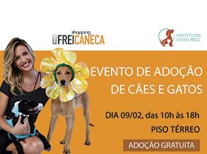 Shopping Frei Caneca realiza evento de adoção com Instituto Luisa Mell