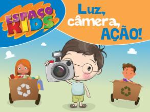 Oficina foto e filme agita o Espaço Kids do Shopping Frei Caneca