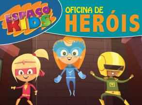 Espaço Kids do Shopping Frei Caneca tem oficina de Super-Heróis