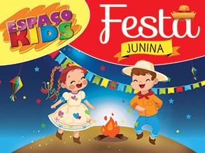 Clima junino chega ao Espaço Kids do Shopping Frei Caneca