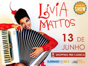 Rádio Eldorado e Shopping Frei Caneca celebram o mês dos Namorados com pocket show de Lívia Mattos