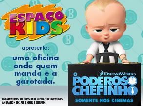 """""""O Poderoso Chefinho"""" é tema de atividade infantil no Shopping Frei Caneca"""