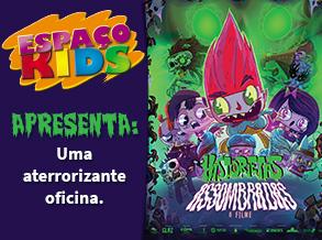 Personagens do filme Historietas Assombradas ganham forma em oficina infantil do Shopping Frei Caneca