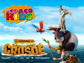 Shopping Frei Caneca tem oficina infantil inspirada no filme As Aventuras de Robinson Crusoé