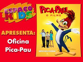 """""""Pica-Pau"""" é tema de atividade infantil no Shopping Frei Caneca"""