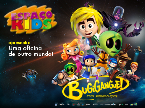 Shopping Frei Caneca recebe oficina infantil com tema da animação BugiGangue