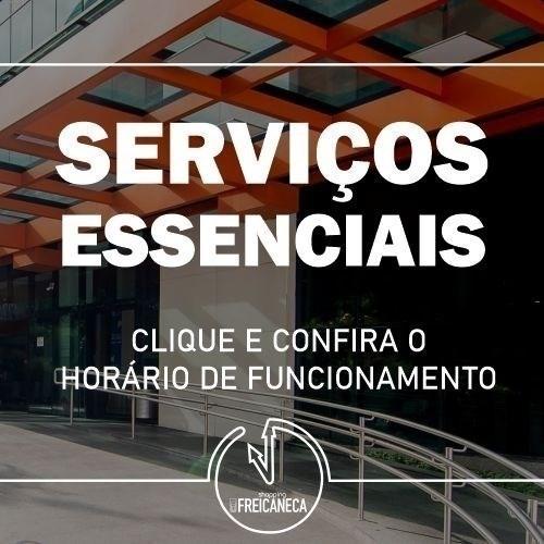 Horário serviços essenciais
