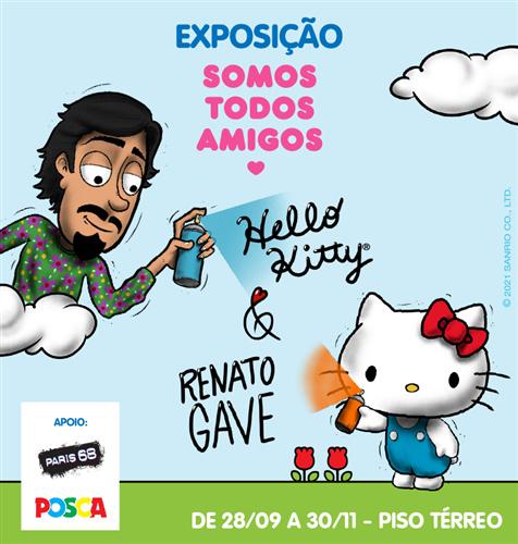 """""""Somos Todos Amigos"""" exposição inédita da Sanrio estreia no Shopping Frei Caneca"""